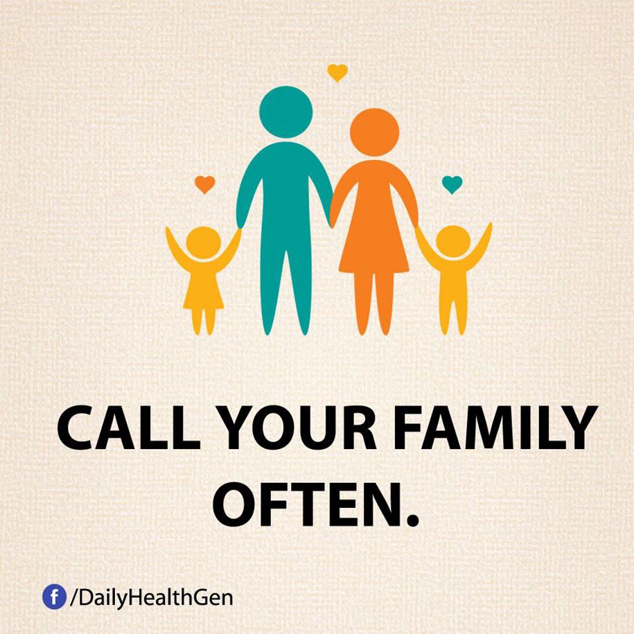 Chiama spesso la tua famiglia.