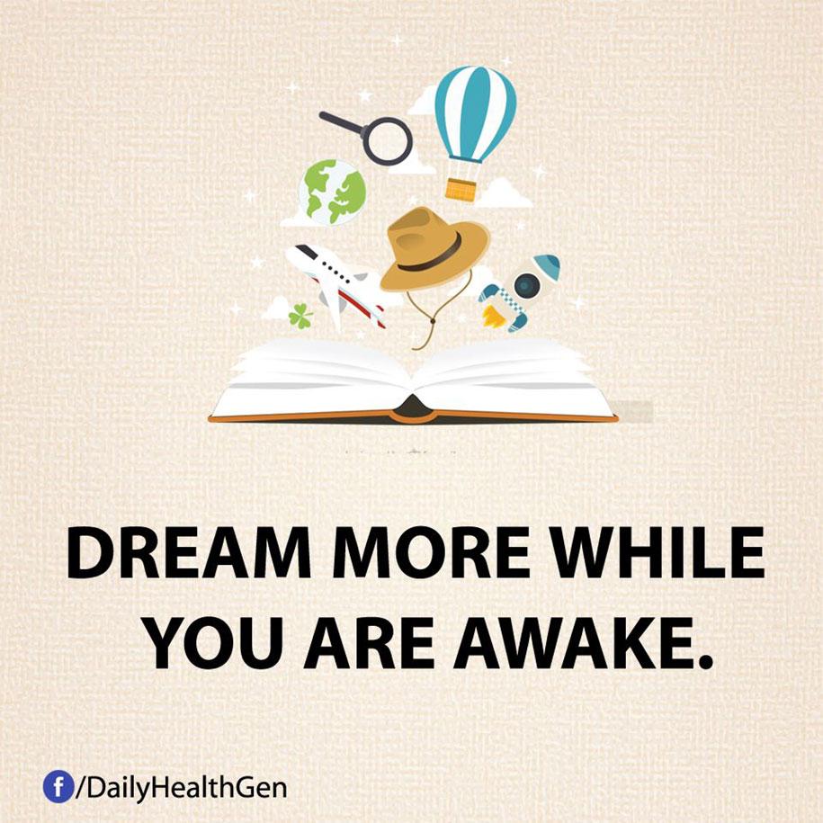 Sogna di più da sveglio.